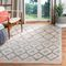 Janet Kilim Hand-Tufted Gray/Blue/Gold Area Rug 5x8