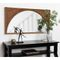 Eliza Modern Wood Framed Wall Panel Arch Beveled Accent Mirror