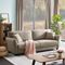"""Andrais Linen 85.43"""" Wide Flared Arm Sofa"""