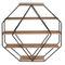 Kennesaw 5 Piece Hexagon Solid Wood Floating Shelf